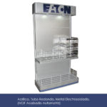 exhibidor acrilico tubo redondo metal electrosoldado