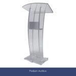 podium acrilico